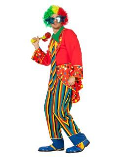 Lustiger Clown Kostüm Zirkus-Verkleidung bunt