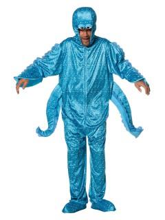 Lustiges Seemonster Jumpsuit Unisex-Kostüm blau