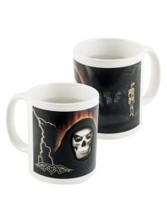 Gruselige Kaffeetasse mit Motivwechsel Halloween bunt