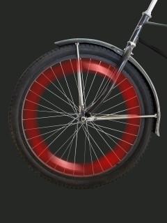 LED Fahrradspeichen-Licht rot 12,5cm