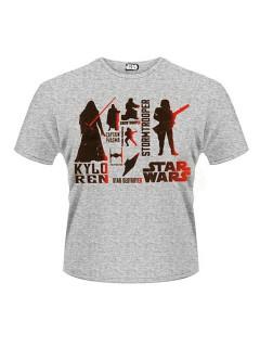 Star Wars™-T-Shirt Antihelden Lizenzprodukt grau-schwarz-rot