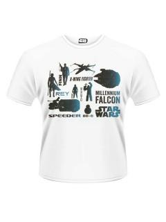 Star Wars™-T-Shirt Helden Lizenzprodukt weiss-schwarz-blau