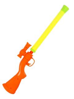 Gewehr Wasserpistole mit Zielfernrohr gelb-orange-grün 55x10cm