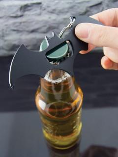 Batman™-Schlüsselanhänger multifuktional Lizenzprodukt grau-silber 11x5cm