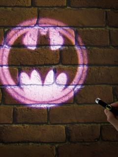 Batman™-Logo Taschenlampe DC™ Lizenzprodukt schwarz-gelb 8,6x1x14cm
