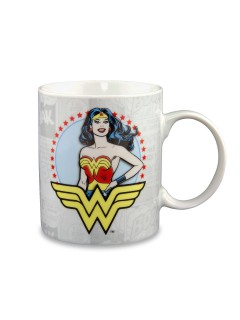 Wonder Woman™-Tasse DC Comics Lizenzartikel weiss-bunt 300ml