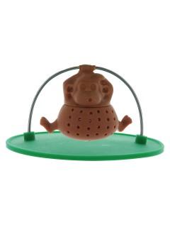 Affe Teesieb Küchen-Gadget braun-grün 10x10x5cm