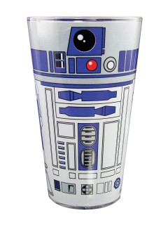 R2-D2™-Glas Star Wars™-Dekoration blau-weiss 500ml