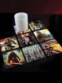 Star Wars 3D-Untersetzer-Set für Gläser 8-teilig Lizenzware bunt 10x10cm