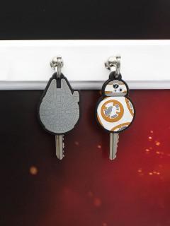 Star Wars VII™-Schlüsselkappe 2 Stück bunt 4,5x3cm