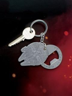 Milleniumfalke-Schlüsselanhänger mit Flaschenöffner Star Wars™ grau 5,5x4cm