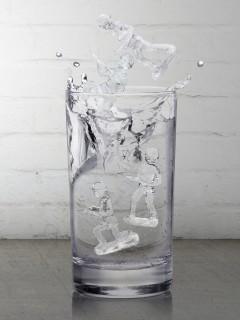 Eiswürfel-Form Soldaten Party-Gadget bunt 18x15x3cm