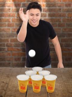 Bier Ping Pong Party-Spiel Trinkspiel 14-teilig bunt 23x10x10cm