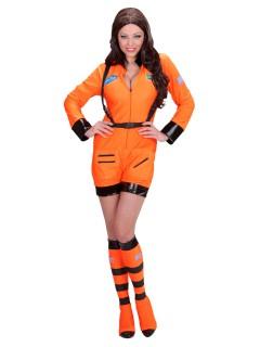Astronautin Damenkostüm Raumfahrerin orange