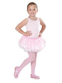 Tutu Ballett-Rock für Kinder Petticoat rosa-weiss
