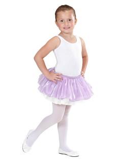 Tutu Ballett-Rock für Kinder Petticoat lila-weiss