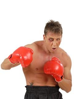 Box-Handschuhe Kostümzubehör Sportler rot