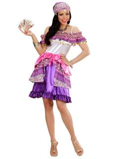 Elegante Hellseherin Damenkostüm Wahrsagerin lila-creme
