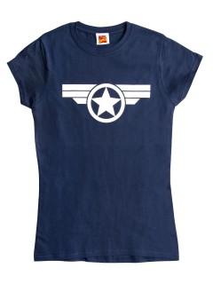 Steve Rogers™-T-Shirt Captain America™ blau-weiss