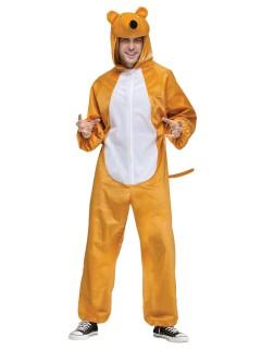 Lustiger Fuchs Jumpsuit-Kostüm Unisex braun-weiss