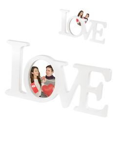Bilderrahmen Love für Verliebte weiss 35 x 18 cm