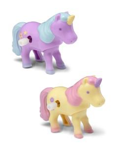 Aufziehbares Einhorn Spielzeug für Kinder bunt 5x7cm