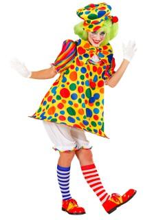 Freche Clownfrau Damenkostüm Zirkus bunt