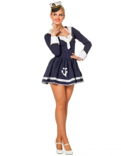 Süsse Matrosin Damenkostüm Sailor Girl blau-weiss