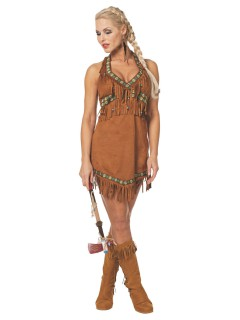 Heisse Indianerin Damenkostüm Wildwest braun