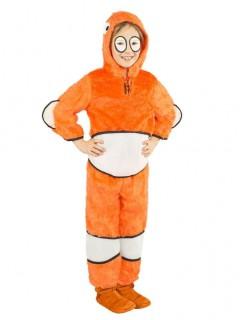 Süsser Clownfisch Kinderkostüm orange-weiss