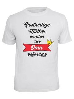 T-Shirt Grossartige Mütter - Oma befördert weiss