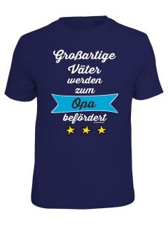 T-Shirt Grossartige Väter - Opa befördert dunkelblau
