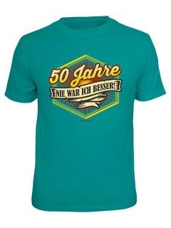 T-Shirt 50 Jahre - Nie war ich besser türkis-bunt