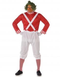 Schokoladen-Fabrikarbeiter Kostüm weiss-rot
