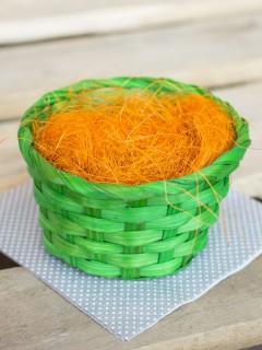 Ostergras Deko-Gras Osternest orange-grün 14x8cm