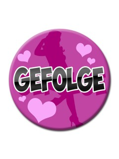 JGA-Party Button Gefolge pink 50mm