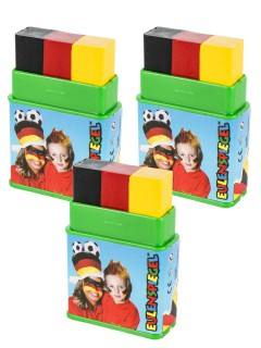 Fun-Stick Schminkstift Deutschland 3-er Set schwarz-rot-gelb 24g (Bundle)