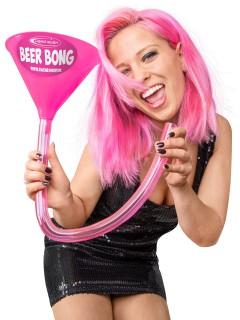 Head Rush Beer Bong Bier-Bong Beerbong Ultimate Bierstürzer Saufmaschine pink-grau 70cm
