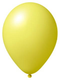 Luftballon-Set 12 Stück Ballons Party-Deko hellgelb 33cm