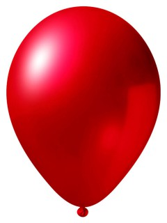 Metallic Luftballon-Set 24 Stück Ballons Party-Deko rot 33cm