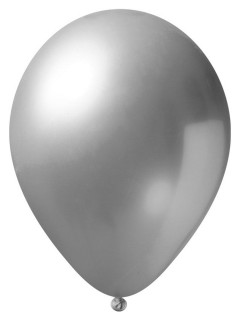 Metallic Luftballon-Set 24 Stück Ballons Party-Deko silber 33cm