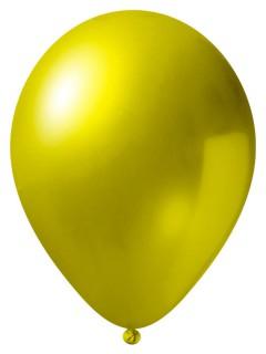 Metallic Luftballon-Set 50 Stück Ballons Party-Deko gelb 33cm