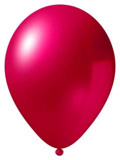 Metallic Luftballon-Set 12 Stück Ballons Party-Deko pink 33cm