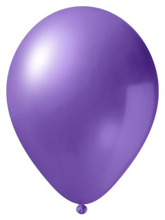 Metallic Luftballon-Set 24 Stück Ballons Party-Deko flieder 33cm
