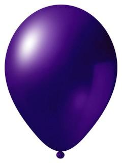 Metallic Luftballon-Set 24 Stück Ballons Party-Deko lila 33cm