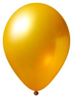 Metallic Luftballon-Set 12 Stück Ballons Party-Deko gold 33cm