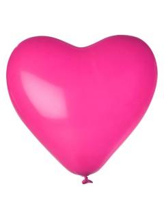 Herz Luftballon-Set 12 Stück Ballons Party-Deko pink 33cm