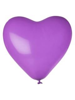 Herz Luftballon-Set 12 Stück Ballons Party-Deko lila 33cm