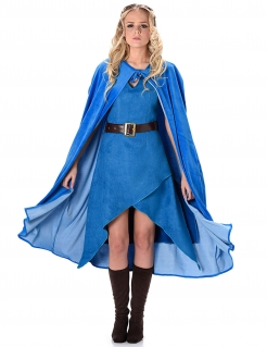 Drachenmutter-Damenkostüm Fantasy-Kostüm blau