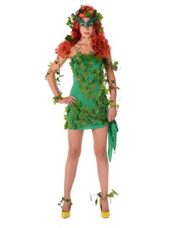 Superheldin Damenkostüm Giftefeu Comic grün
